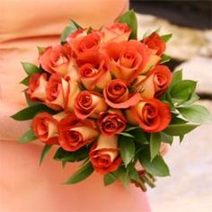 Bi-colored roses with greens