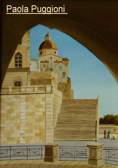 """The Cathedral  of Cagliari   oil on canvas panel 35"""" x 50 """""""