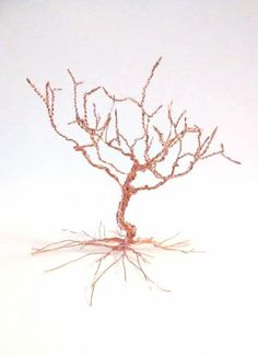 Mini Wire Tree Of Life Sculpture Earring