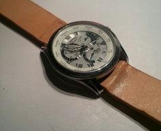 Strap working leather