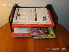 3 necessary tools for organizing paper from Organizing Junkie