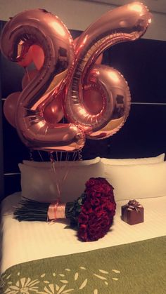 ROSE GOLD BALLOONS FOR MY 26TH BIRTHDAY