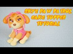 How to make Marshall Paw Patrol tutorial cake topper fondant sugar paste Skye Paw Patrol Cake, Paw Patrol Cake Toppers, Paw Patrol Birthday Cake, Paw Patrol Party, Cake Topper Tutorial, Fondant Tutorial, Cake Disney, Cumple Paw Patrol, Making Fondant