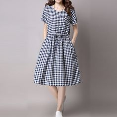 Hot salePrinted Lattice Bowknot Tied Short Sleeve Women Dresses Cheap  - NewChic Mobile
