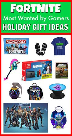 Fortnite Holiday Gift Ideas for the Fortnite Obsessed Gamer in your family! These Fortnite Favorites will be a hit for your kids, friends, co-workers, family, and just about anyone. Fortnite Season 6 and Battle Royale have taken over, and you can be the o