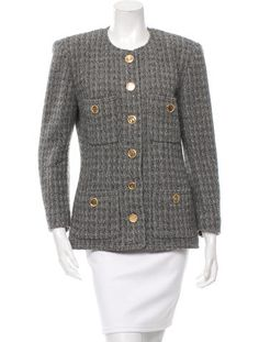 Chanel Knit Fitted Jacket