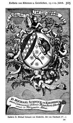 Abtswappen ex libris Michael Schnock von Kiedrich, Amtszeit 1702-1727 by petrus.agricola, via Flickr