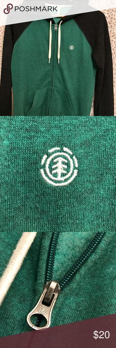 Teal element hoodie size M Teal Element Hoodie only worn a couple times, still very soft on the inside. It has the embroidered element logo on the right chest Element Tops Sweatshirts & Hoodies