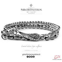 MARIA CRISTINA STERLING | Bracciale uomo SAINT  [ LIMITED EDITION ] ▪   Disponibile presso Gioielleria Cosentino, Corso Manfredi 181 | Manfredonia (FG) | 0884.512858  FIND MORE ► http://www.gioielleriacosentino.it/it/brands  #mariacristinasterling #bracciali #bracelet #argento #gioielli #madeintuscany #jewellery #ancora #love #italy #manfredonia