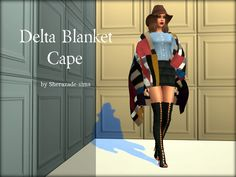 Delta Blanket Cape by Sherazade-Sims.