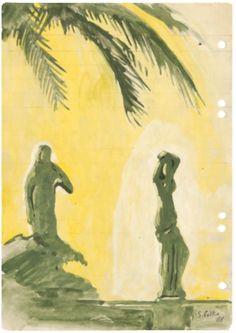 Sigmar Polke Untitled (Polke Constellation), 1969Ballpoint pen, felt-tip pen, wash on paper29.5 x 21 cmSigmar Polke. Ear...