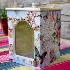 Azucarero/Yerbero Grande Tea Blends, Shabby Chic, Frame, Diy, Home Decor, Patio, Gifts, Wood, Ideas