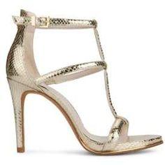 7609e7af86f Kenneth Cole New York Bertel Embossed Dress Sandals - Soft Gold Gold High  Heels