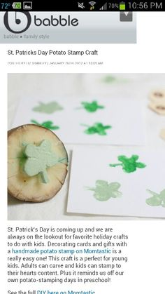 St.Patrick potato day stamp
