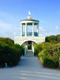 Beach pavilions in Seaside, Florida