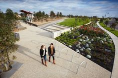 Rooke Reserve by CPG Australia « Landscape Architecture Platform Contemporary Landscape, Urban Landscape, Landscape Design, Beautiful Architecture, Landscape Architecture, Australia Landscape, Urban City, Architectural Elements, Presentation Design