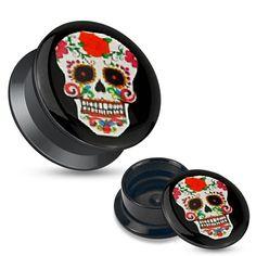 écarteur logo 10 mm tete de mort mexicaine n° 5