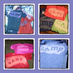 It's My Life: Camping Craft: DIY Bleached Shirts fun idea for troop shirts or daisy meeting craft