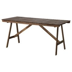 IKEA - FALHOLMEN, Table, outdoor, For added durability, and so you can enjoy the natural expression of the wood, the furniture has been pre-treated with a layer of semi-transparent wood stain.