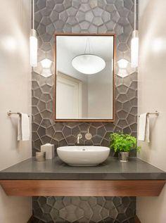 Los Altos Hills Residence Powder Room Modern Contemporary Bathroom by SagreraBrazil Design Washroom Design, Bathroom Design Luxury, Bathroom Layout, Modern Bathroom Design, Bathroom Ideas, Contemporary Bathrooms, Bath Ideas, Best Bathroom Tiles, Modern Small Bathrooms