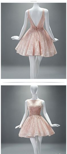 Pink Prom Dress,Backless Prom Dress,A Line Prom Dress,Bridesmaid Prom Dress, Cheap Party Dress, 2017 Evening Dress
