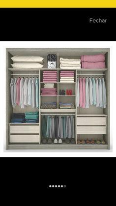 Exemplo interior de guarda roupa