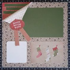 Timtam Papercraft: Christmas Layout 2014; Yuletide Carol Paper; Picture My Life (PML) Pear & Partridge; CTMH; Home For The Holidays SOTM