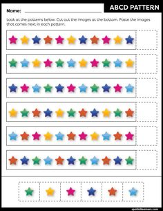 These FREE printable worksheets for kids are great for practicing spatial concepts! These patterns worksheets can be used as homework, bell-ringer activity, warm-up activity, or speech therapy work. Fun activity for your kindergarten or grade 1 students! Kids Math Worksheets, Free Printable Worksheets, Pattern Worksheet, Kids Learning Activities, Math For Kids, Early Childhood, Work Fun, Teaching, Speech Therapy