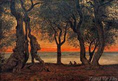 Hans Thoma, Abend bei Tivoli, Evening nekar Tivoli, 1880