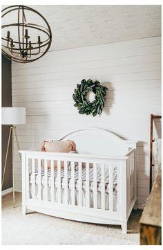 Nursery Crib, White Nursery, Nursery Neutral, Girl Nursery, Girl Room, Simple Baby Nursery, Baby Room, Baby Crib, Crib Bedding