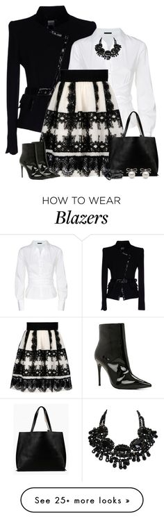 """Black & White"" by majezy on Polyvore featuring Gai Mattiolo, Donna Karan, Alberta Ferretti, ALDO, Azalea, Kenneth Jay Lane and Eddie Borgo"