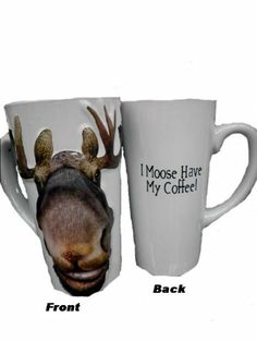 "Amazon.com - Alaska 3D ""I Moose Have my Coffee"" Mug -"