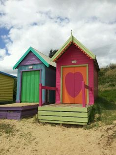 My two fav beach shacks #love