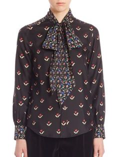 MARC JACOBS Printed Long Sleeves Top. #marcjacobs #cloth #top