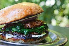 Portobello Mushroom Burger and some artisan 'no knead' cibatta rolls....bring on the grilling Summer!