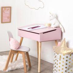 Kinder bureau met krijtbord Wit Kinderen Eminza