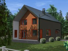 Проект каркасного дома TRUMP 155 кв.м. http://www.ekonia.ru  The project of frame house TRUMP 155m2