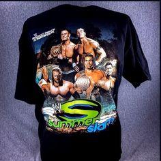 World Wrestling Summer Slam 2007  XL T Shirt Black Graphic Tee John Cena #WorldWrestling #GraphicTee