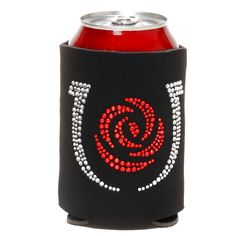Kentucky Derby Rose/Shoe Bling Coozie - Black - $10.39