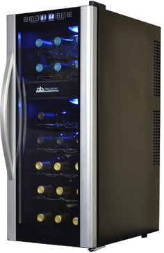 Avalon Bay 21 Bottle Dual Zone Wine Cooler ** Find out more about the great product at the image link. Thermoelectric Wine Cooler, Thermoelectric Cooling, Best Wine Refrigerator, Wine Fridge, Wine Chillers, Coolers For Sale, Different Wines, Wine Storage, Black Stainless Steel