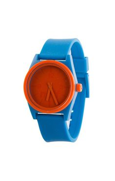 Neff Duo Watch Blue Orange Silicone Rubber Adjustable Band Water Resistant  #Neff #Fashion