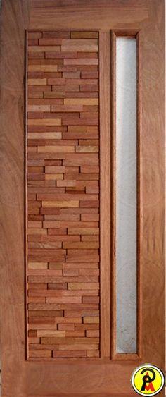 Pinezi Telhas Portas Madeiras - Porta Maciça - Porta Entrada Maciça Pivotante Mix para Vidro