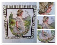 Victorian cross stich Embroidery Art, Cross Stitch Embroidery, Manta Crochet, Crochet Instructions, Textile Art, Vintage World Maps, Projects To Try, Diy Crafts, Knitting