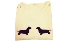 It's easy to see why Dachshund Tits is so popular, how can you resist these adorable pooches? 1 x Small Size, Black Jumper with Brown Dachshunds left Jumper Designs, Brown Dachshund, Black Jumper, Bespoke Design, Crop Tops, Knitting, Clothes, Shopping, Collection