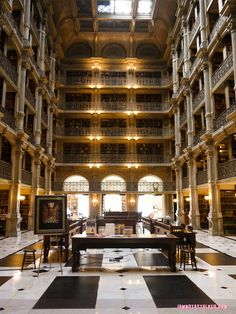"""The George Peabody Library from """"Sleepless in Seattle ..."""