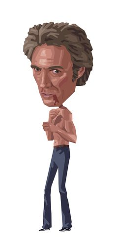 Clint: Every Which Way but Loose by Mitch Frey, via Behance Clint Eastwood, Eastwood Movies, Pop Culture, Disney Characters, Fictional Characters, Cinema, Disney Princess, Illustration, Caricatures