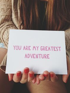 """Anniversary card """" You are my Greatest Adventure """" Greeting card. I love you card. Valentine's Day Card on Etsy, $4.00"""