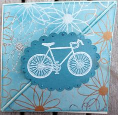 Easel card with bicycle