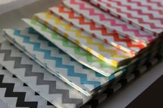 Set of 35 Rainbow Chevron Medium Bitty Bags 5 x 75 by moieti, $10.50