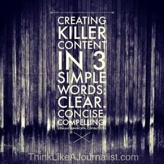 3 Words For Creating Killer Content - The Brand Journalism Advantage Content Marketing, Online Marketing, Social Media Marketing, Digital Marketing, Interview, Brand Story, Simple Words, Journalism, Personal Branding